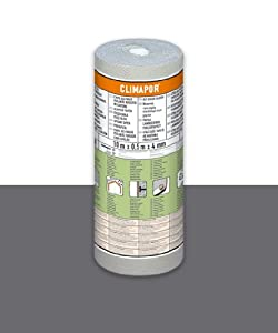 Climapor - Papel Aislante Eps Laminado con Substrato de Cartón. Caja de 7 Rollos - Medidas : 10 M. X 0,5 M X 4 mm. marca Saarpor
