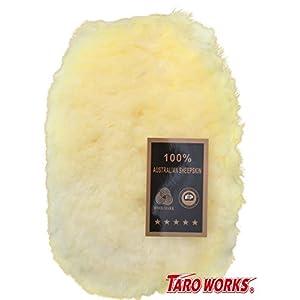 TARO WORKS 洗車 グローブ ムートン 手洗い ウォッシュミット 洗車傷防止 スポンジ