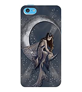 ColourCraft Lovely Angel Design Back Case Cover for APPLE IPHONE 5C