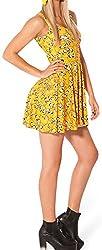 Summer Tank Dresses Casual Women/Girl Yellow Cartoon Dog Print Swim Mini Dress Sleeveless from SaySure