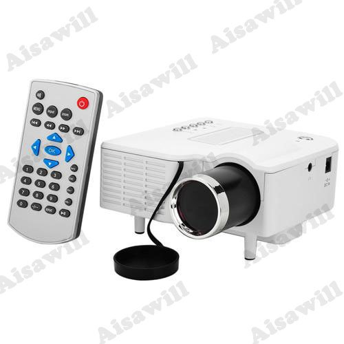 Asiawill® Led High Definition Home Mini Projector Supports Hdmi Smart Cell Phone / Computer Connected