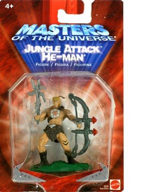 Buy Low Price Mattel Masters of the Universe Mini-Figures Jungle Attack He-Man Action Figure (B000WEVGA2)