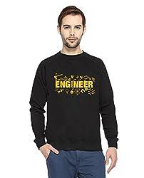 Adro Men's Round Neck Cotton Sweatshirt (Black)