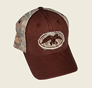 Commander ~ Duck Rip Cap ~ Brown with Camo Max 4 Hardwoods Hunting Hat