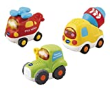Vtech - 203905 - Jouet Premier Age - Tut Tut Bolides - Coffret Trio - Tracteur + Hlico + Btonnire