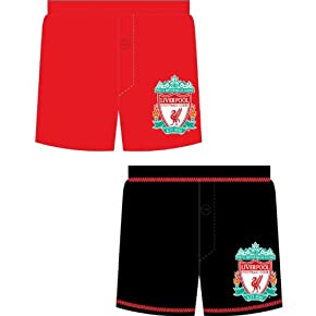 Childrens/Kids Liverpool Football Club Underwear Boxer Shorts (Pack Of 2)
