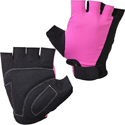 MAXSTRENGTH Pink/Black Large weight lifting ladies cycling bike training gloves finger loop gym training fitness. by MAXSTRENGTH