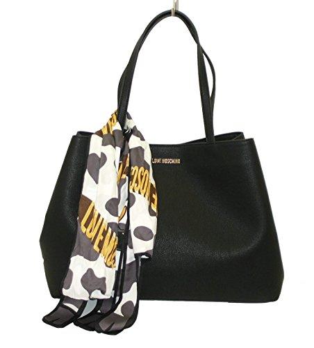 borsa-love-moschino-shopping-jc4075-grain-pu-doppia-forma-con-sciarpa-nero