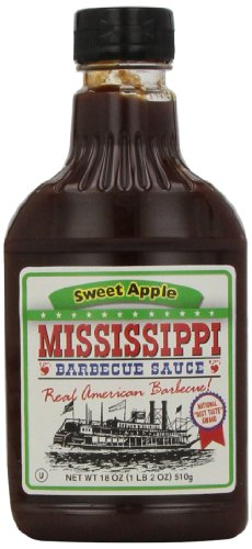 Mississippi BBQ BBQ Sauce, Sweet Apple, 18-Ounce