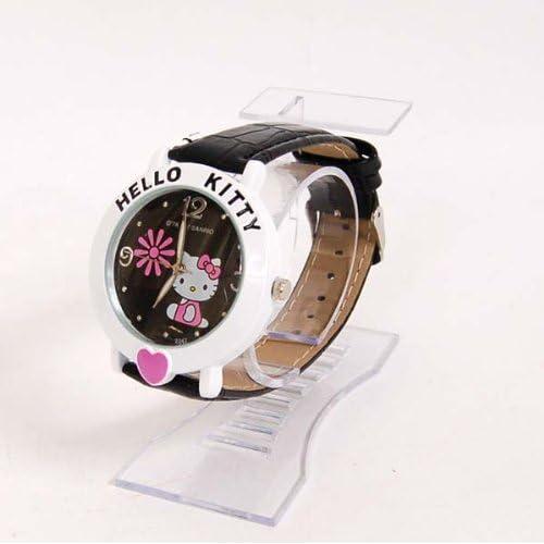 Hello Kitty Heart Wristwatch Wrist Watch Band Noir