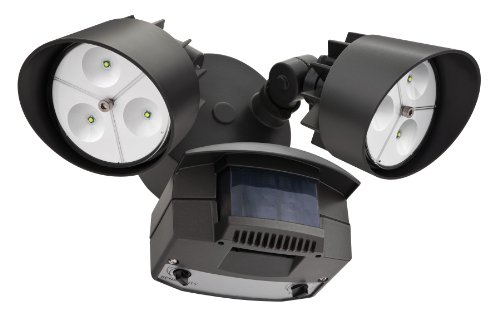Lithonia OFLR 6LC 120 MO BZ LED Outdoor Floodlight 2-Light Motion Sensor, Bronze