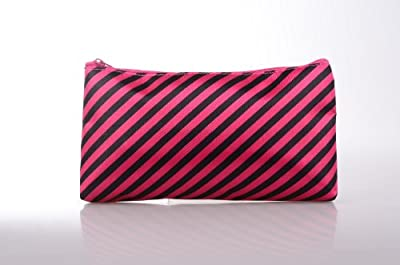 Rectangular Zipper Closure Travel Toiletry Cosmetic Makeup Storage Purse Organizer Bag for Women - Zebra Red Design