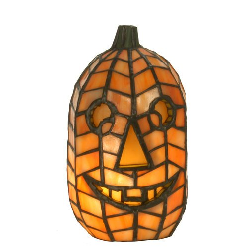 Tiffany Style Jack O'Lantern Accent Lamp