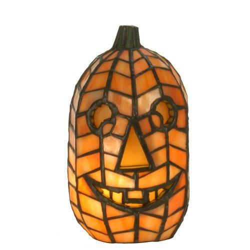 Tiffany Style Jack O'Lantern Accent Lamp