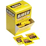 Bayer Aspirin Individual Sealed 2 Tablets in a Packet (Pack of 50 Packets) 100 Tablets Total