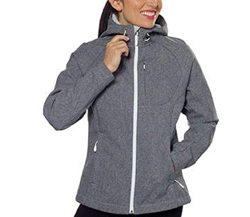 Kirkland Signature Ladies' Softshell Jacket With Hood Heather Grey Medium (Hood Fleece Jacket compare prices)