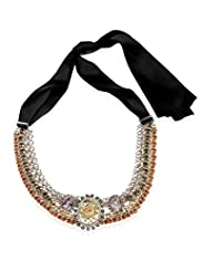 Diamanté Floral Baroque Collar Necklace