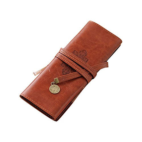 EKIMI Pencil Case Vintage Pirate Style Roll Pencil Bag Pen Pocket Pack Make Up Tool Case (Vintage Style Jewelry Box compare prices)