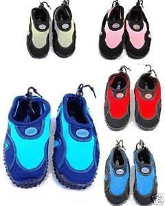 Blue Rush Ladies Beach Wetsuit Aqua Shoes - UK 3 - Black/Red