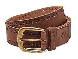 Breakbounce Men's Leather Belt (8907066080200_Medium_Brown)