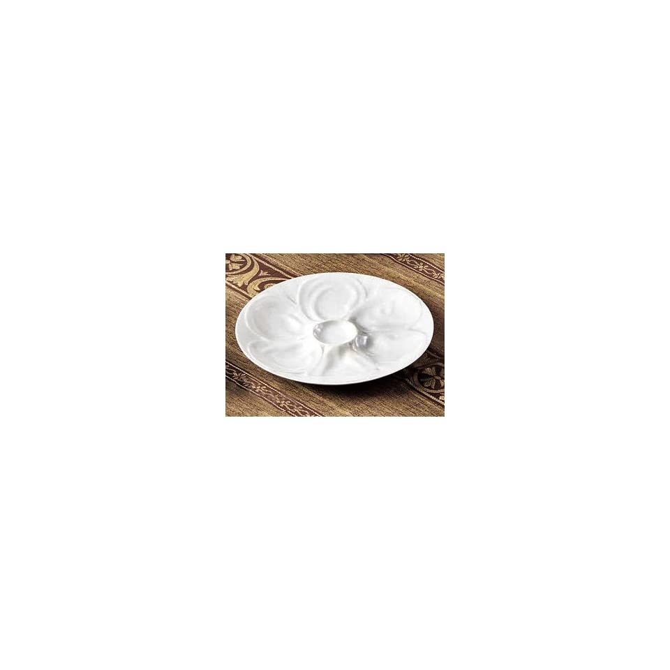 White China Oyster Plate 9   24/CS