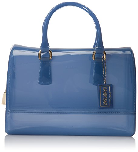 FURLA Candy M Satchel Top Handle Bag,Oxford/Blue,One Size