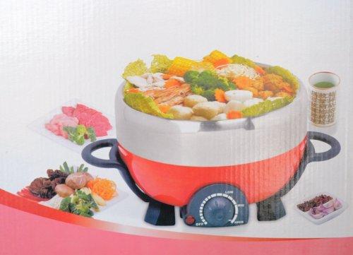 Mini Multi-Cooker Shabu Shabu, Steamboat And Grill With Non Stick Plate