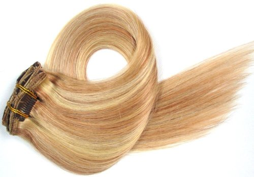 18 Inch 7Pcs Remy Clips In Human Hair Extensions 70Gr With Clips For Highlight Or Full Head