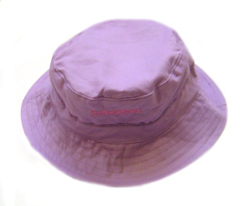 Bright Bots Australian Bucket Style Sun Hat Mauve Soft Cotton Canvas size Small-44cm (Approx 0-12Months)