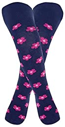 JoJo Maman Bebe Patterned Tights (Baby) - Navy Floral-0-6 Months