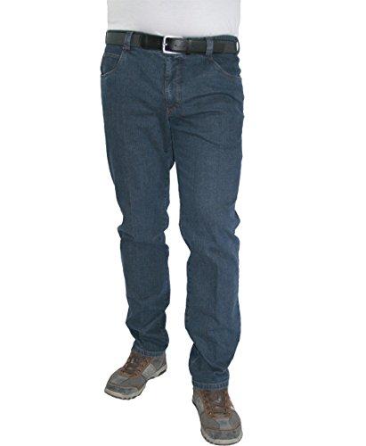 Meyer uomo Stretch Jeans Diego con cintura 9-451 stone blue blu
