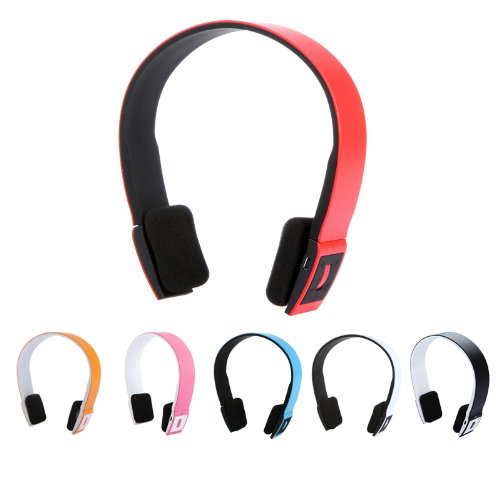 2.4G Wireless Bluetooth V3.0 + Edr Headset Headphone With Mic Bluetooth Stereo Headset With Microphone-In For Iphone 4/4S /Ipad 2 3 /Ps3 - Connect Two Bluetooth Equipments At The Same Time (Red)