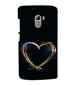 printtech Colored Heart art Back Case Cover for Lenovo K4
