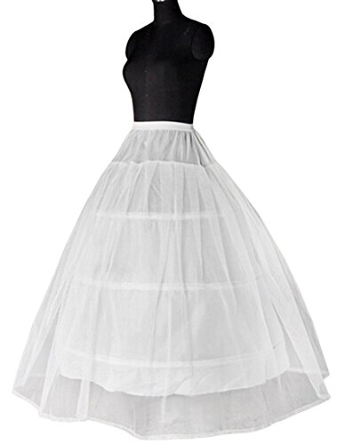 Eyekepper Bridal A Line 3 Hoop Lace Wedding Gown Petticoat Skirt Slip