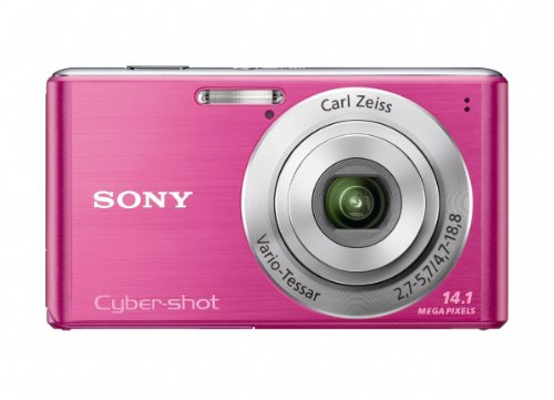 Sony Cyber-Shot DSC-W530 14.1 MP Digital Still Camera with Carl Zeiss Vario-Tessar 4x Wide-Angle Optical Zoom Lens and 2.7-inch LCD (Pink)