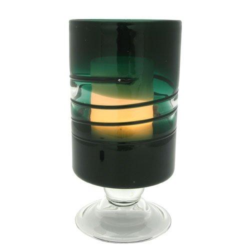 Flipo FLA-CAN-GL10-GN Pacific Accents Venezia Footed Glass Hurrincane - Green