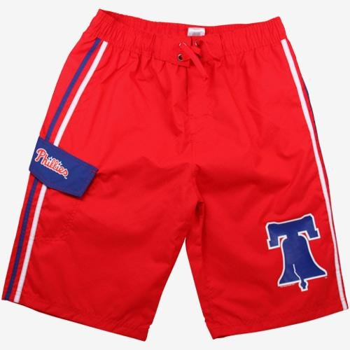 Philadelphia Phillies Youth Small Logo Boardshorts - Red at Amazon.com