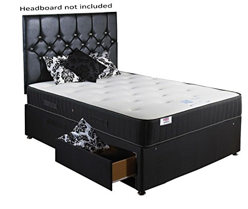Best price backcare support divan bed small double 4 39 0 for Cheap divans with mattress