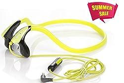 Hangout {MY SOUND} SPORTS Back Neck STEREO HEADSPHONES-HSR-54-Green