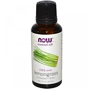 Now Foods Lemongrass Oil 100% Pure, 1 Ounce (Pack of 2)