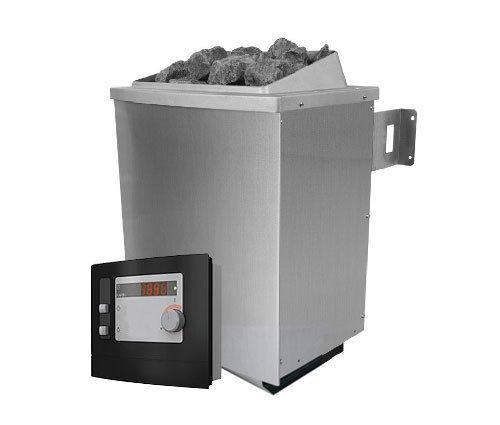 Karibu-Saunaofen-90-kW-externe-Steuerung-mit-Steinen-Leistung-90-kW-3-x-30-kW-Saunasteine-18-kg-Steuerung-extern-Temperaturvorwahl-40-125-C-max-Heizzeit-6-Stunden-elektrischer-Anschluss-400-V