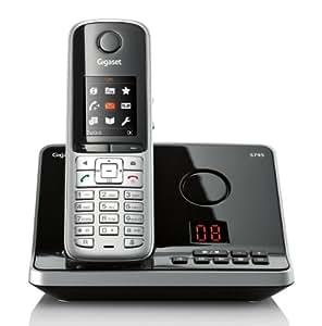 Gigaset S795 Schnurlostelefon mit AB (4,6 cm (1,8 Zoll) TFT-Display Freisprechen Adressbuch für 500 Eintraege Metall-Tasten Mini-USB) stahlgrau