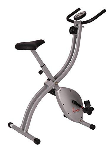 Sunny Health & Fitness SF-B2605 Magnetic Folding Exercise Bike, Grey