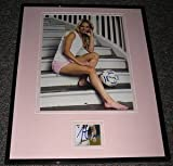 Heather Mitts Signed Framed 11x14 Photo Display USA Soccer