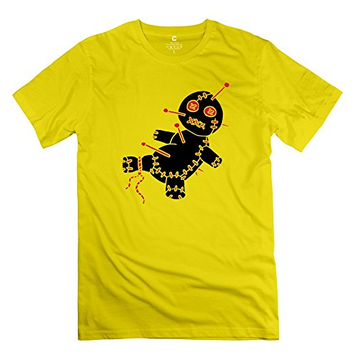 Yongth Men'S 2 Col Funny Game Voodoo Doll Hawaii Tattoo Style 100% Cotton T-Shirt - Nerdy T Shirts Yellow Us Size Xl