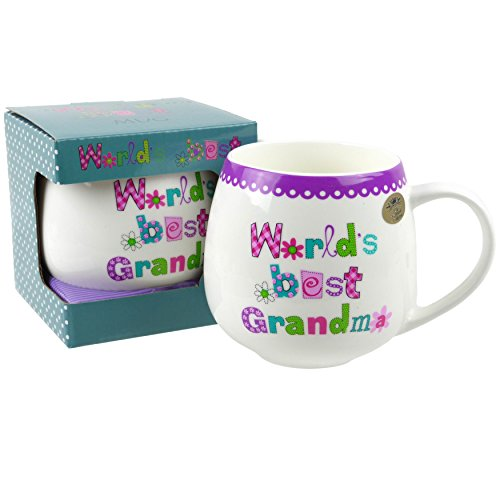 Fine China Worlds Best... Collection MUG CUP by Leonardo Gift Box Family Friends Birthday (Grandma)