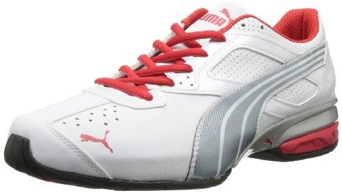 f8526a1e373 Feature of PUMA Men s Tazon 5 Nm Running Shoe White Tradewinds High Risk  Red 10 M US