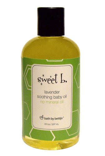 Sweet B. Soothing Baby Oil, Lavender , 8-Ounce Bottle