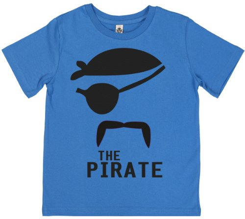 Phunky Buddha - The Pirate Kid'S Boys T-Shirt 5-6 Yrs - Blue front-744440