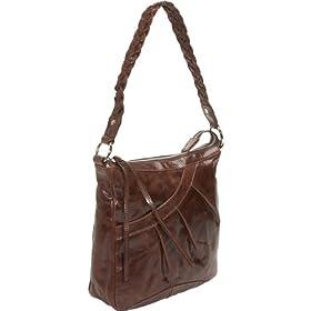 Latico Leathers Bettina N/S Pleated Handbag